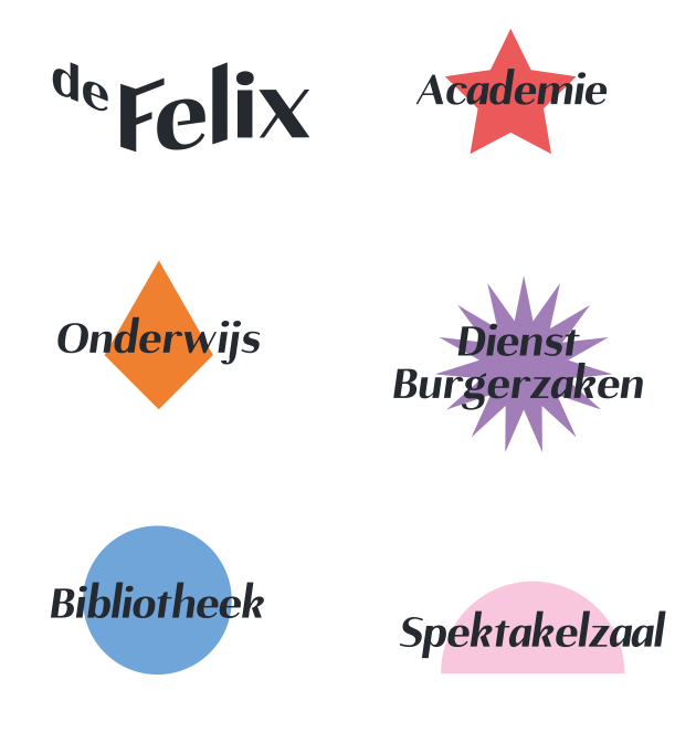 The style elements of each part of the Felix