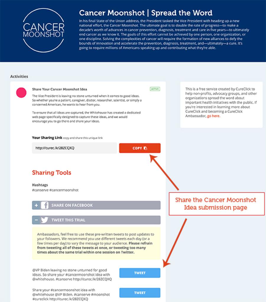 Cc cancer moonshot platform