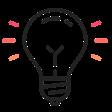 Idea lightbulb icon