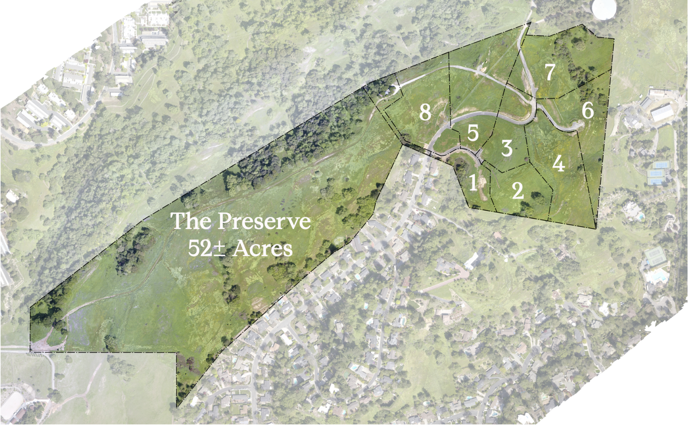 Overhead layout of Lucas Ranch Preserve