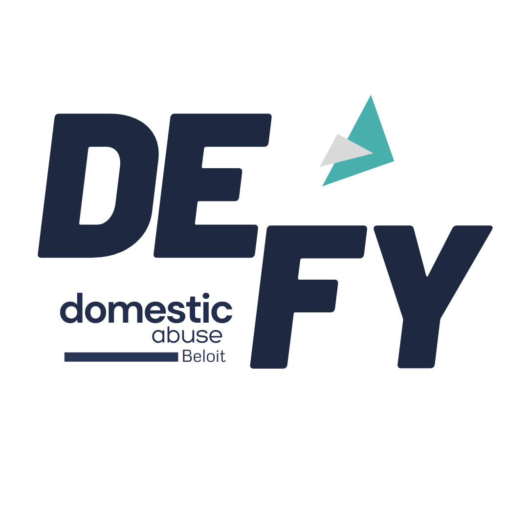 The final logo made for Defy Domestic Abuse Beloit as part of their branding project with Owl Street Studio.