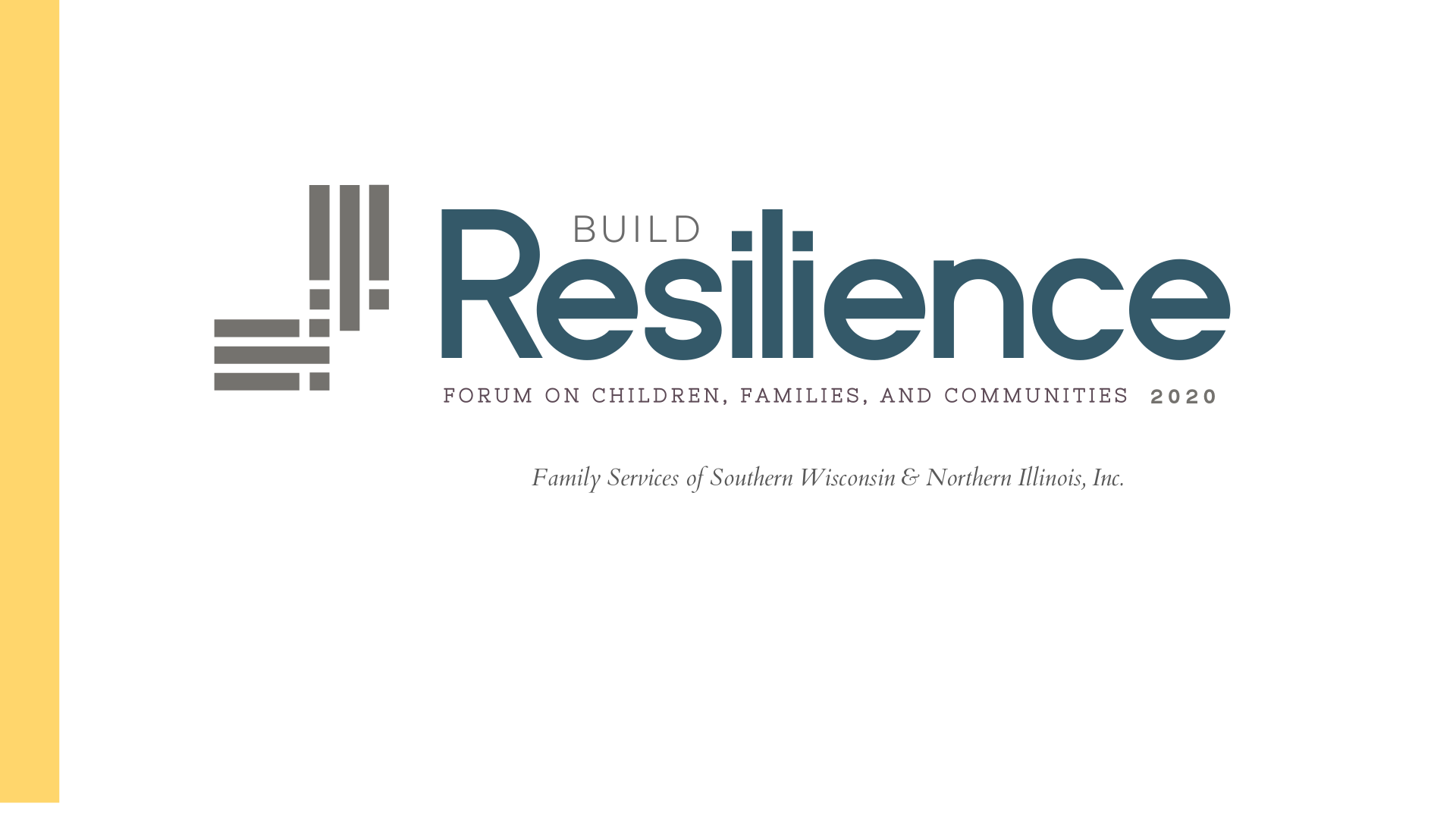 Logo made by Owl Street Studio  for Family Services of Beloit Wisconsin fundraiser event Build Resilience