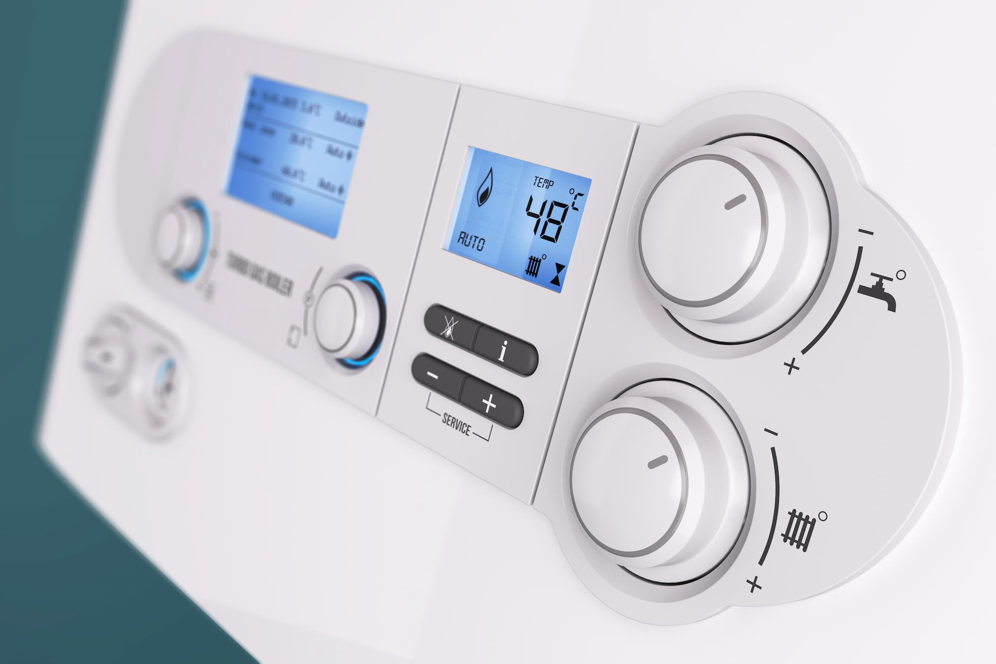 Picture of a boiler control panel