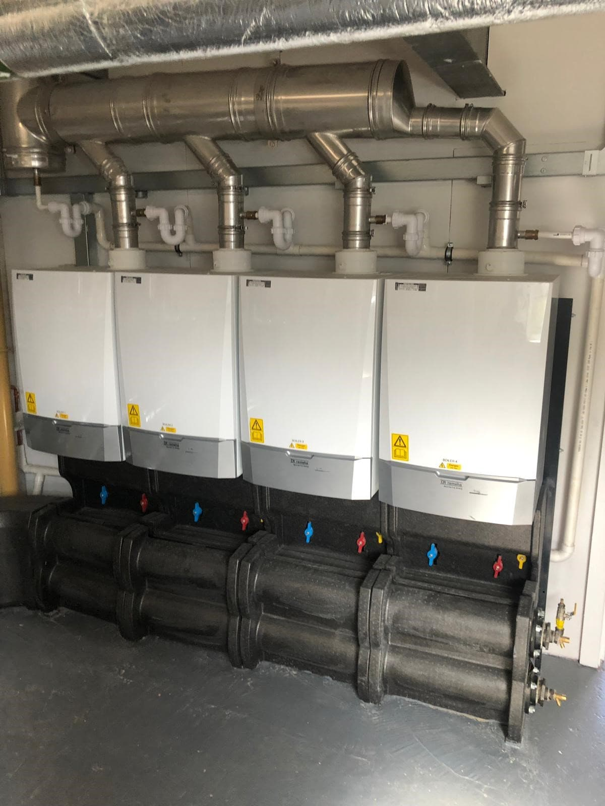 Commercial boilers room
