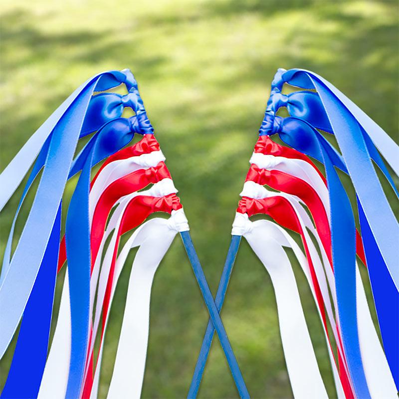 Patriotic Single Face Satin Ribbon Set