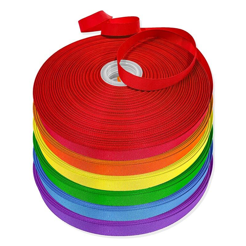 Pride Rainbow Grosgrain Ribbon Set