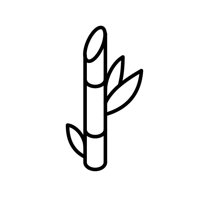 Simple graphic of sugarcane used in Wheyward Spirit