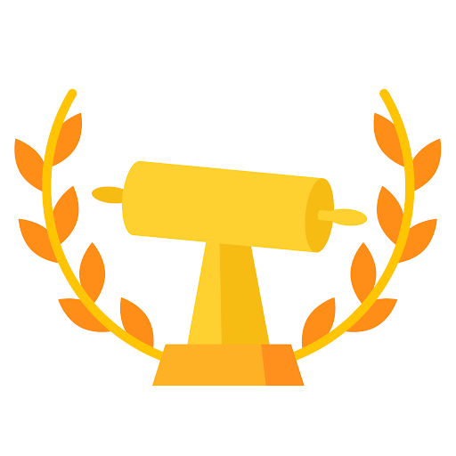 An icon of a golden dough roller made to look like a trophy
