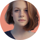 Portrait photo of woman with ginger hair