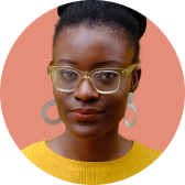 Portrait photo of black woman with glasses