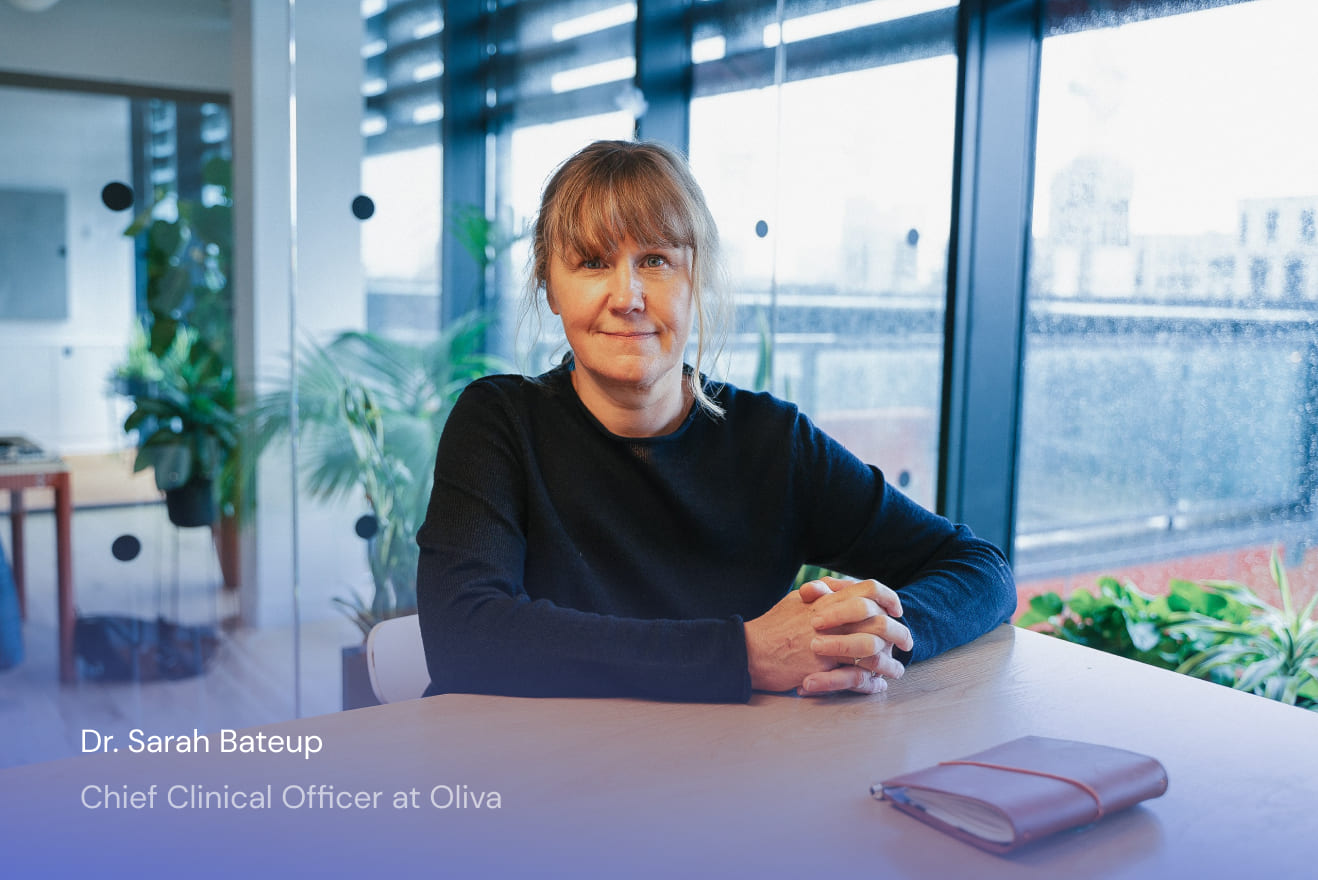 Photo of Dr. Sarah Bateup, Chief Clinical Officer at Oliva