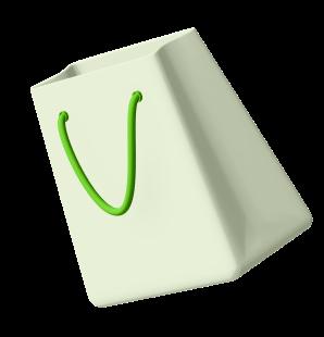 Elemento 3D de bolsa de compras