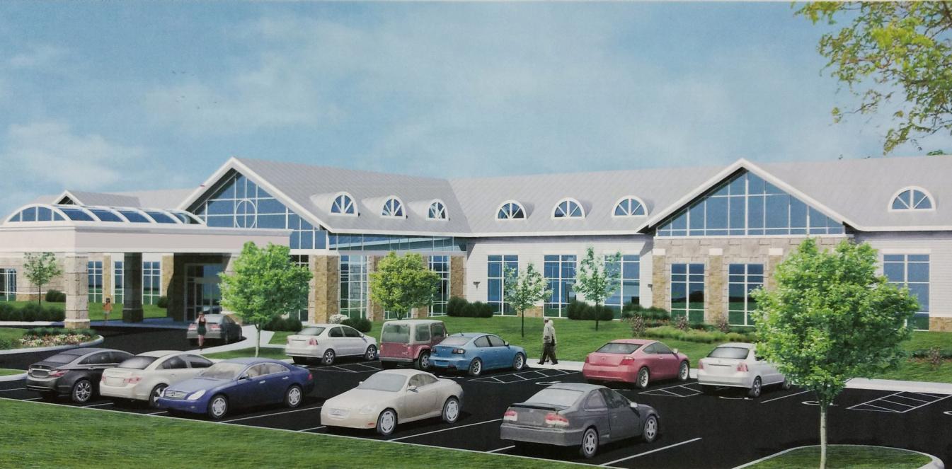 hospice home concept building