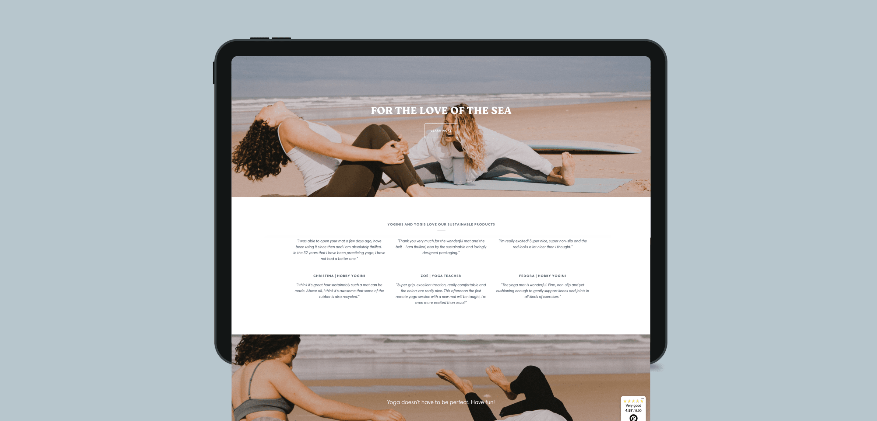 Capturing the yoga brand protecting our oceans