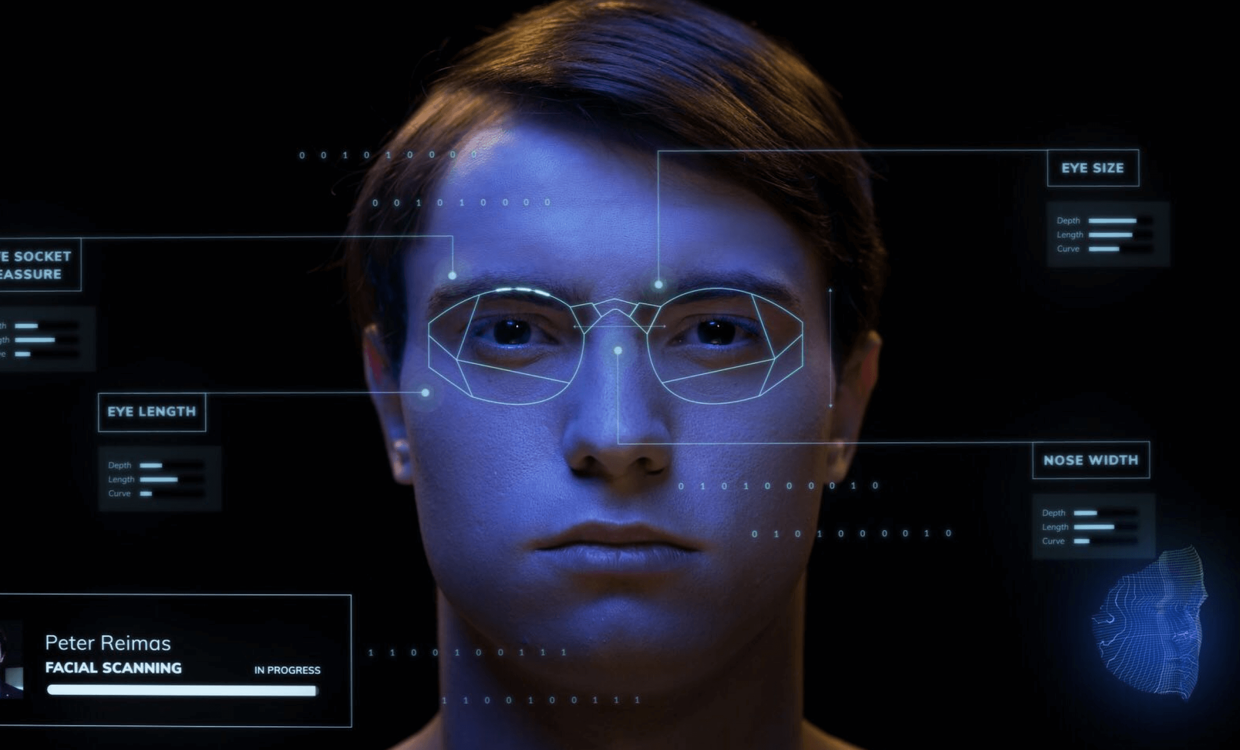 Capturing the swimming goggles that are made to measure