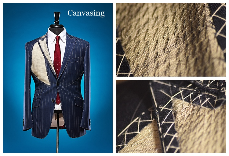 Canvasing on a custom suit by Tailor Cooperative in Salt Lake City Utah