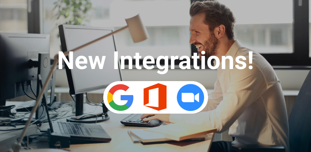Announcing New Integrations: GSuite, Office Suite, and Zoom 🎉