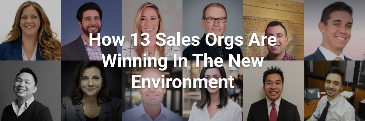 How 13 Sales Orgs Are Winning In The New Environment