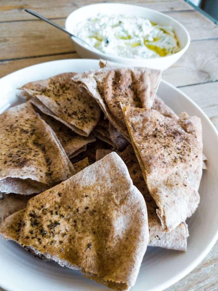 Crispy Toasted Pita Triangles