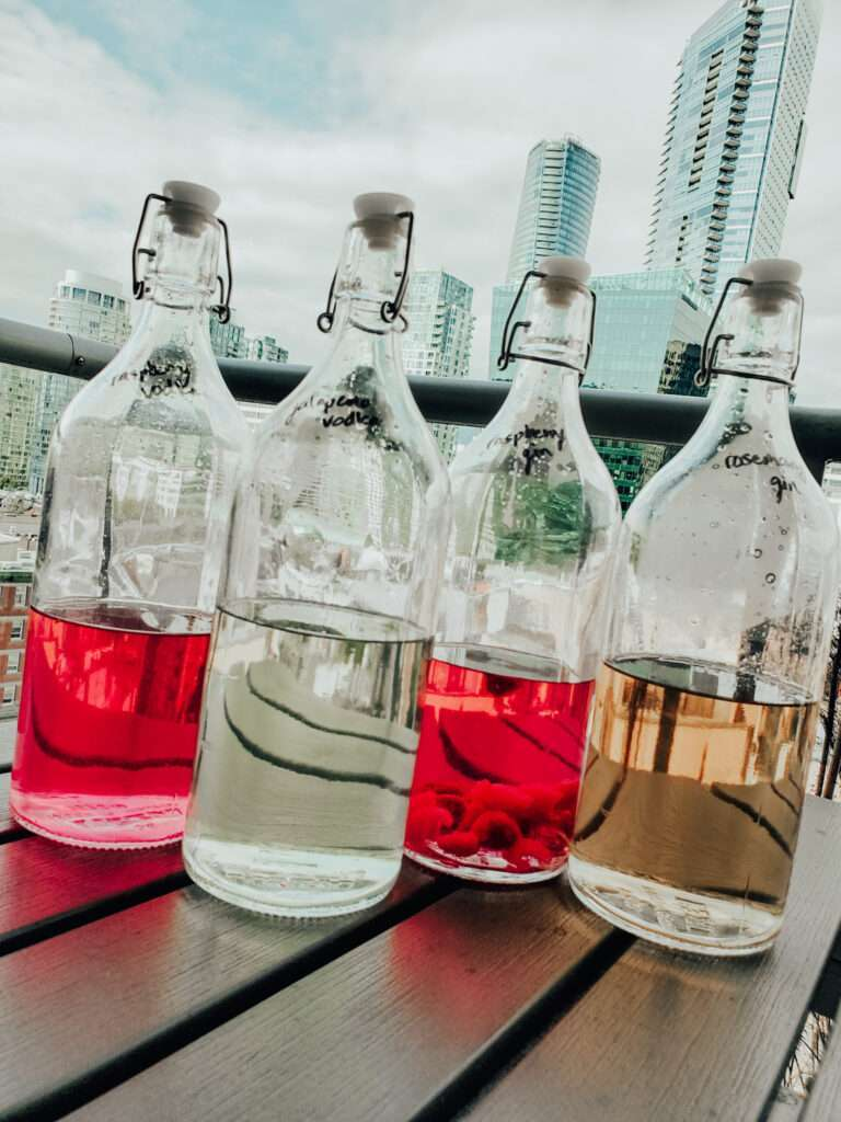gin and vodka infusions