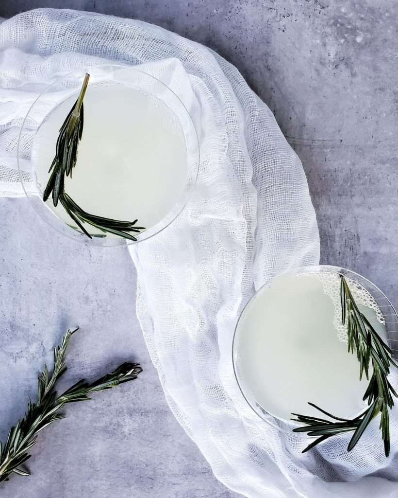 Rosemary Gin Gimlet Cocktails