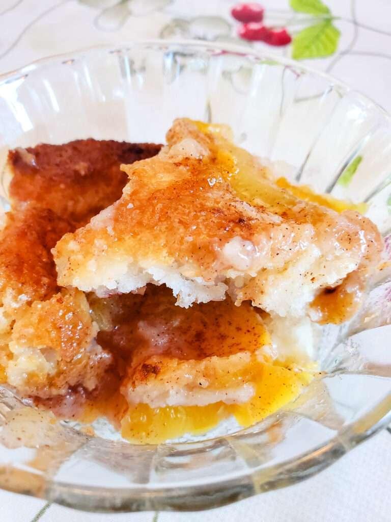 Cardamom Peach Cobbler