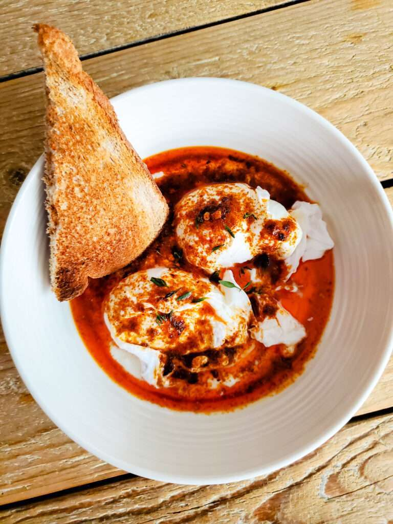 Turkish Style Poached Eggs