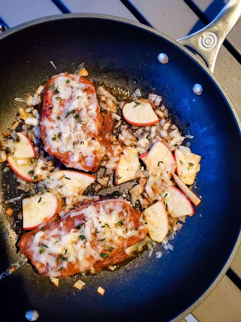 Apple butter pork chops