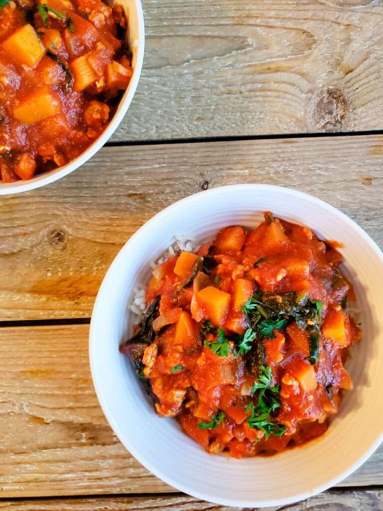 Harissa and turkey stew