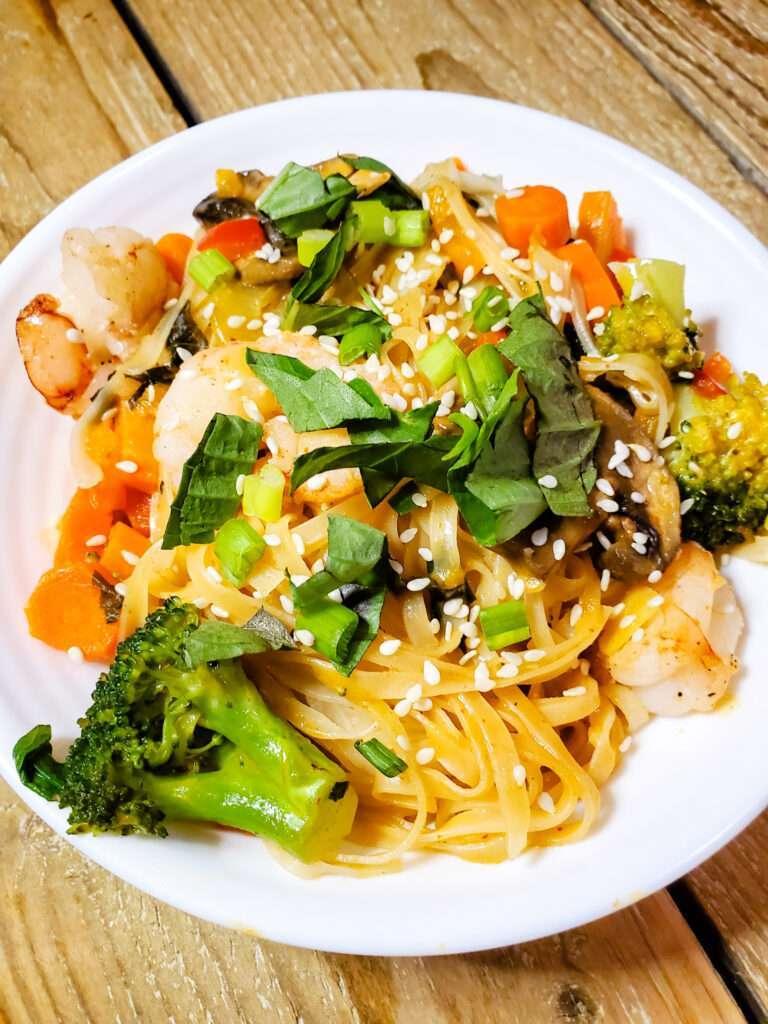 Thai Shrimp Noodle Bowls
