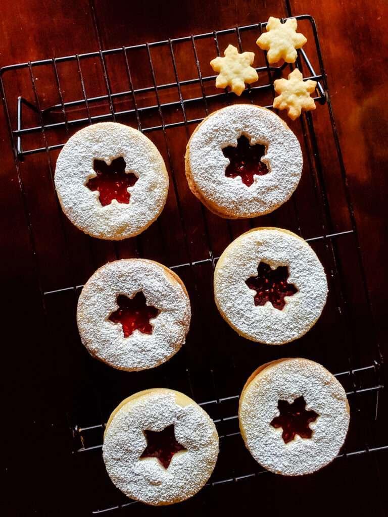 Cardamom Christmas Linzer Cookies