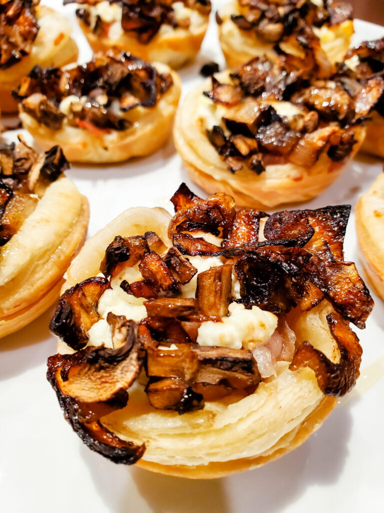 Prosciutto and Mushroom Bites