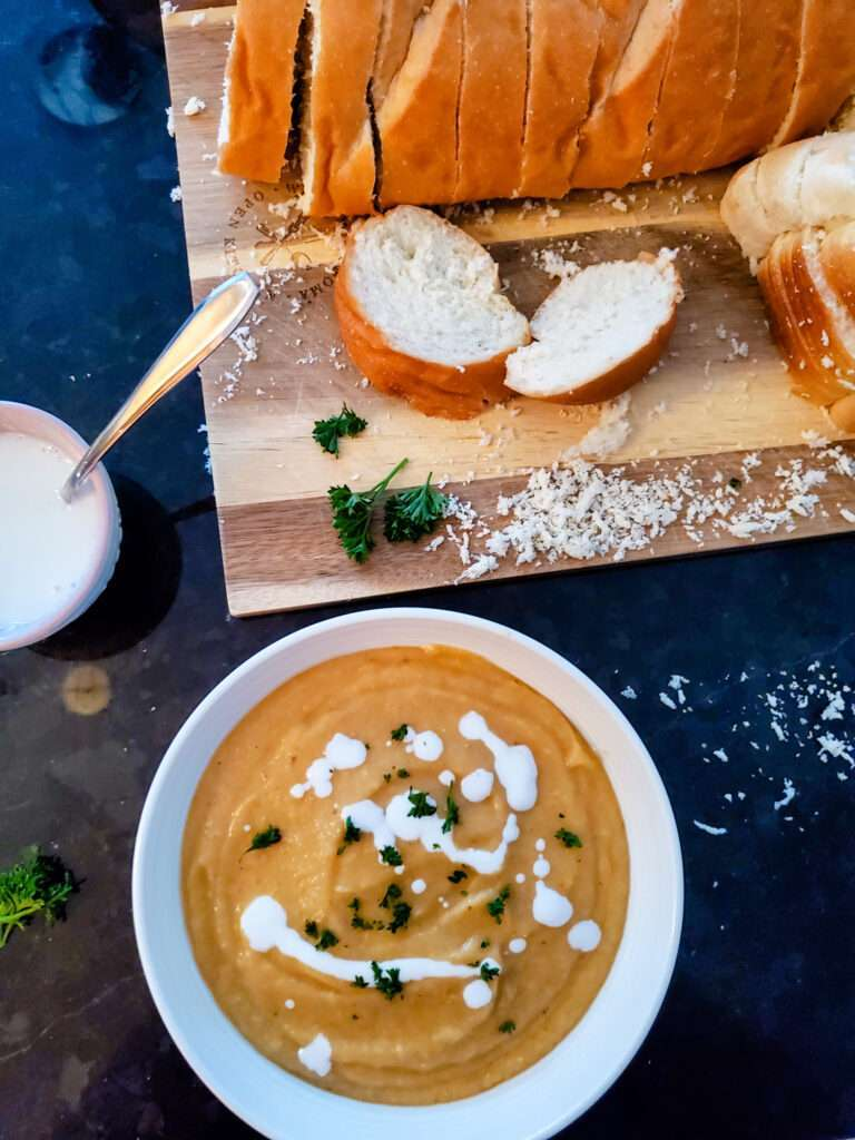 Roasted Parsnip and Carrot Soup