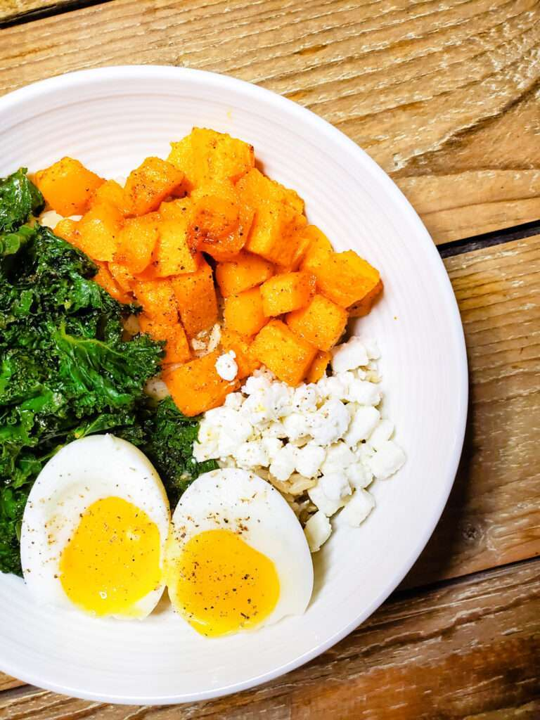 Roasted Veggie Egg Bowls