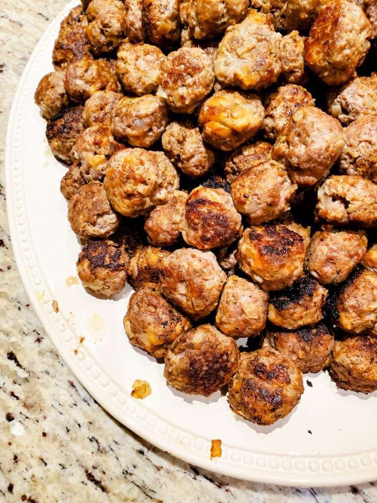 Great Grandma's Greek meatballs
