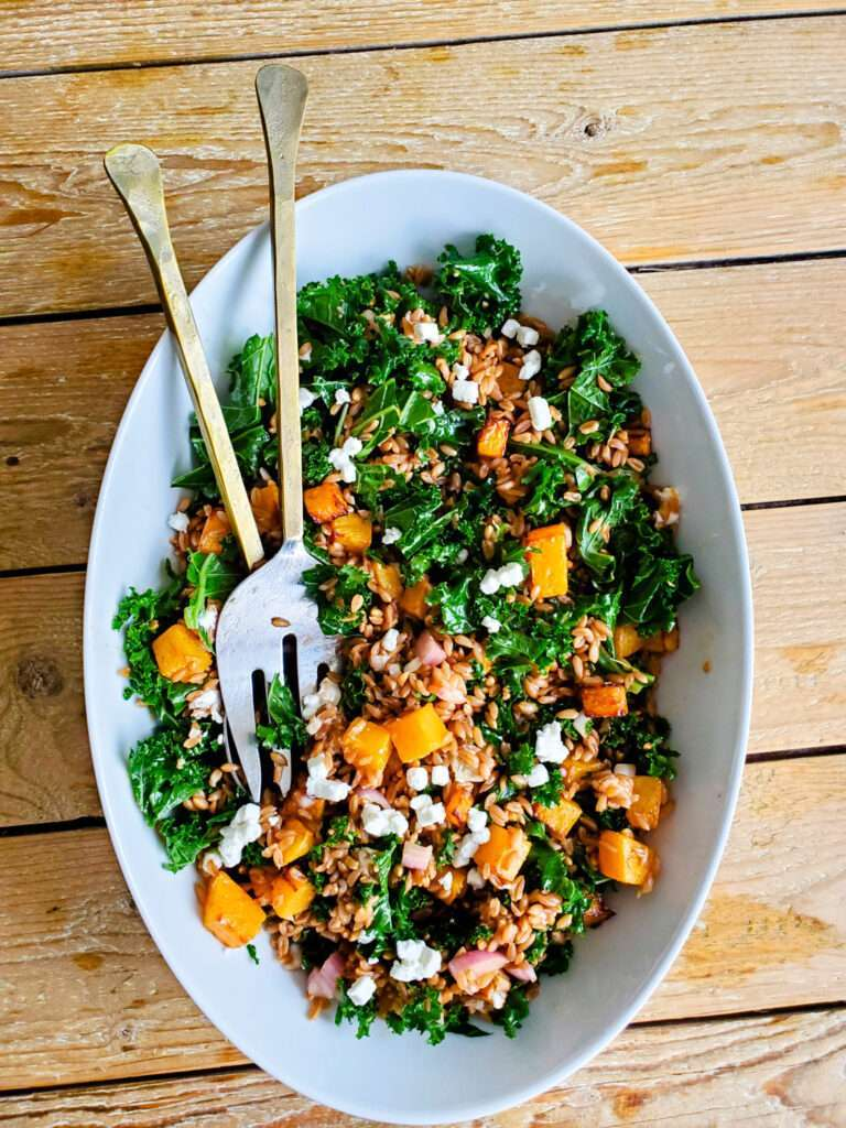Farro and Kale Winter Salad
