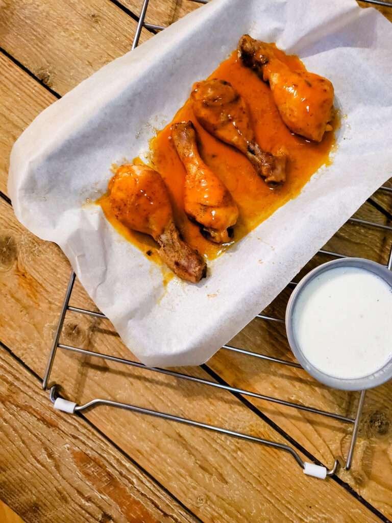 Homemade Buffalo Chicken Drumsticks