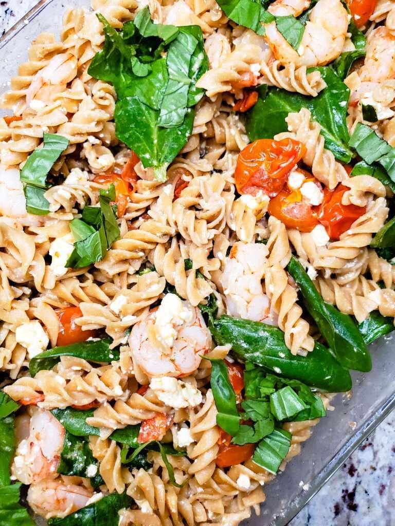 Easy Baked Feta and Shrimp Pasta