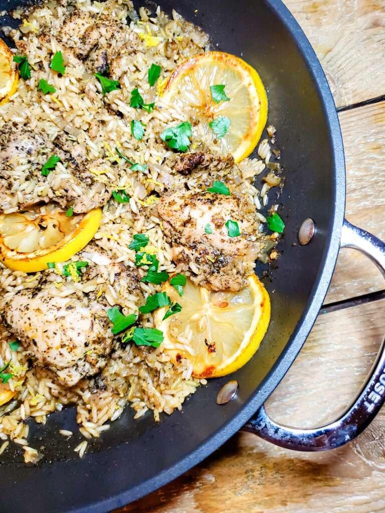 Easy Skillet Greek Lemon Chicken