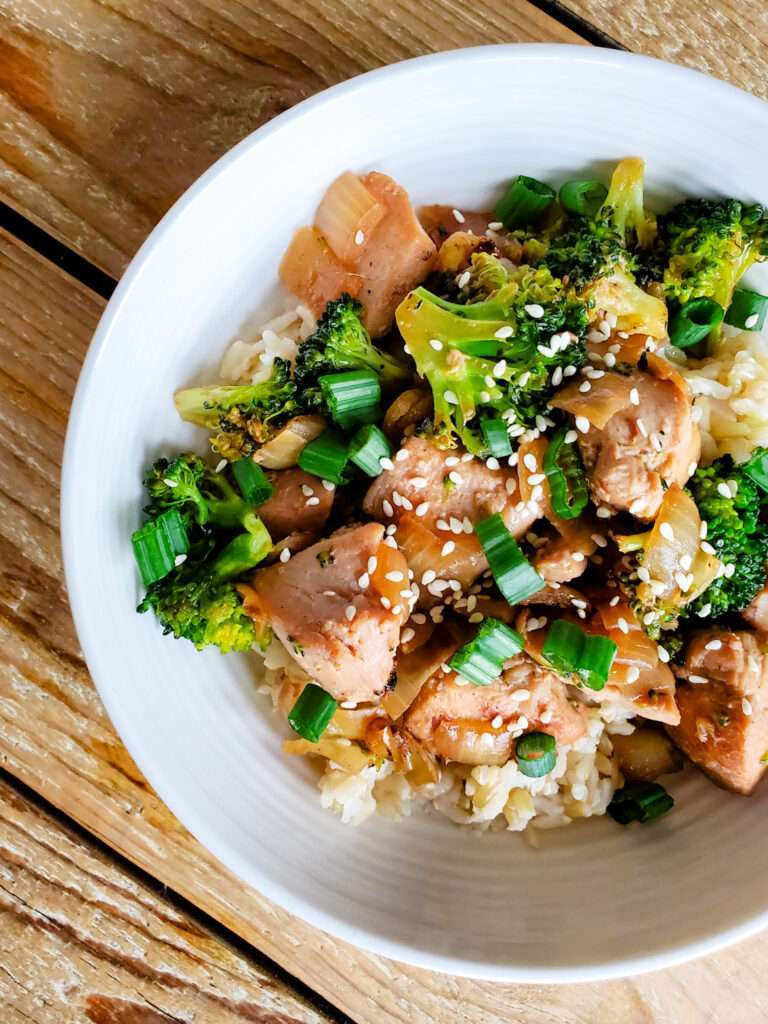 Easy Mongolian Chicken Bowls