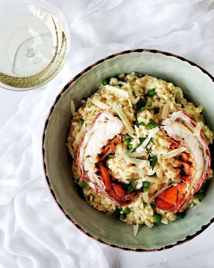Easy Creamy Lobster Risotto In Bowl