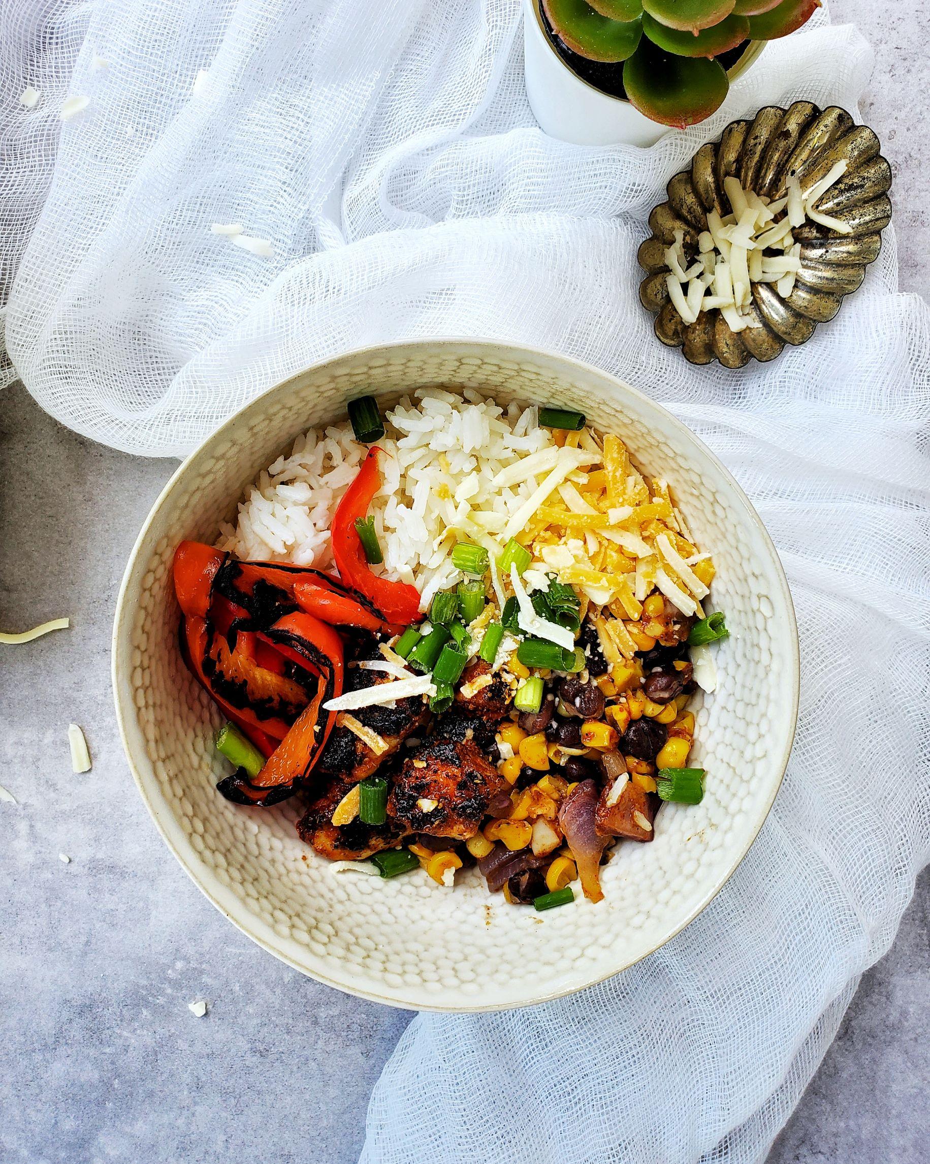Chicken Fajita Bowl on Table