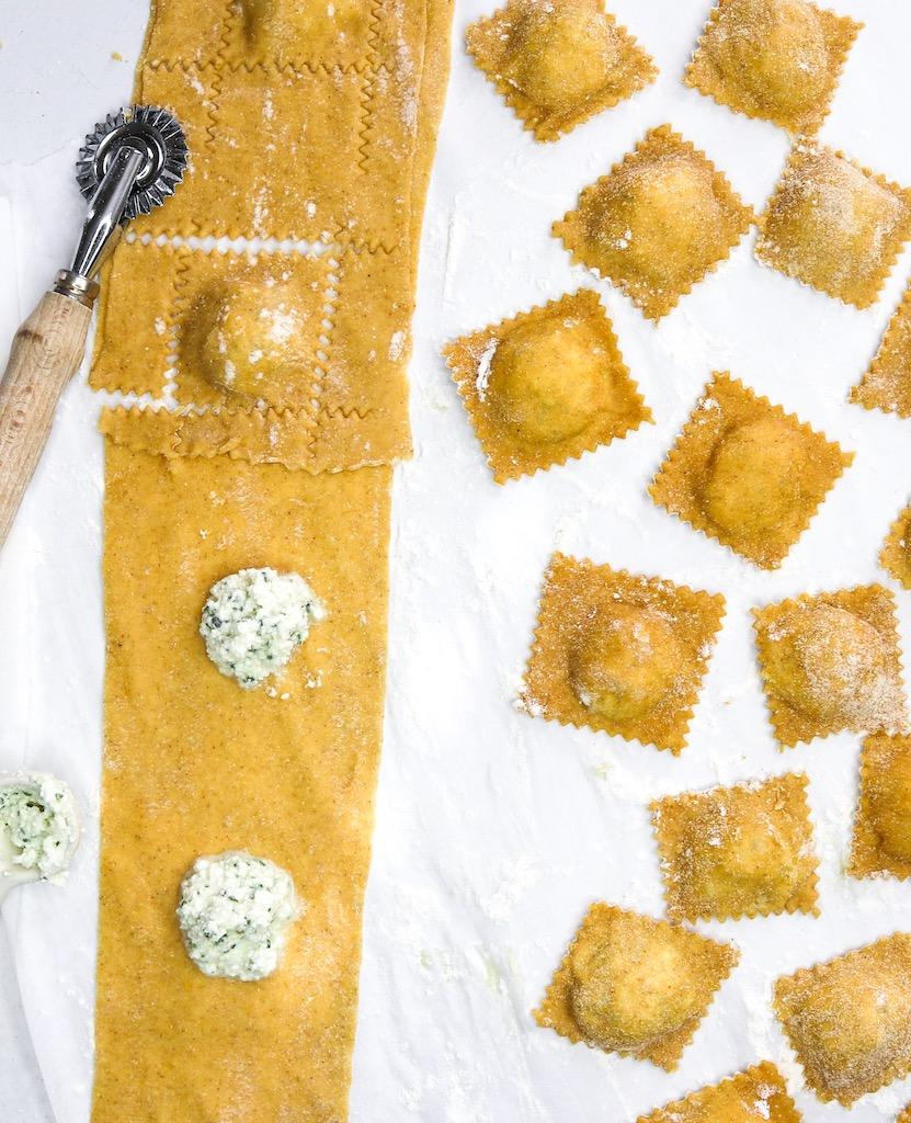 Homemade Butternut Squash & Sage Ravioli