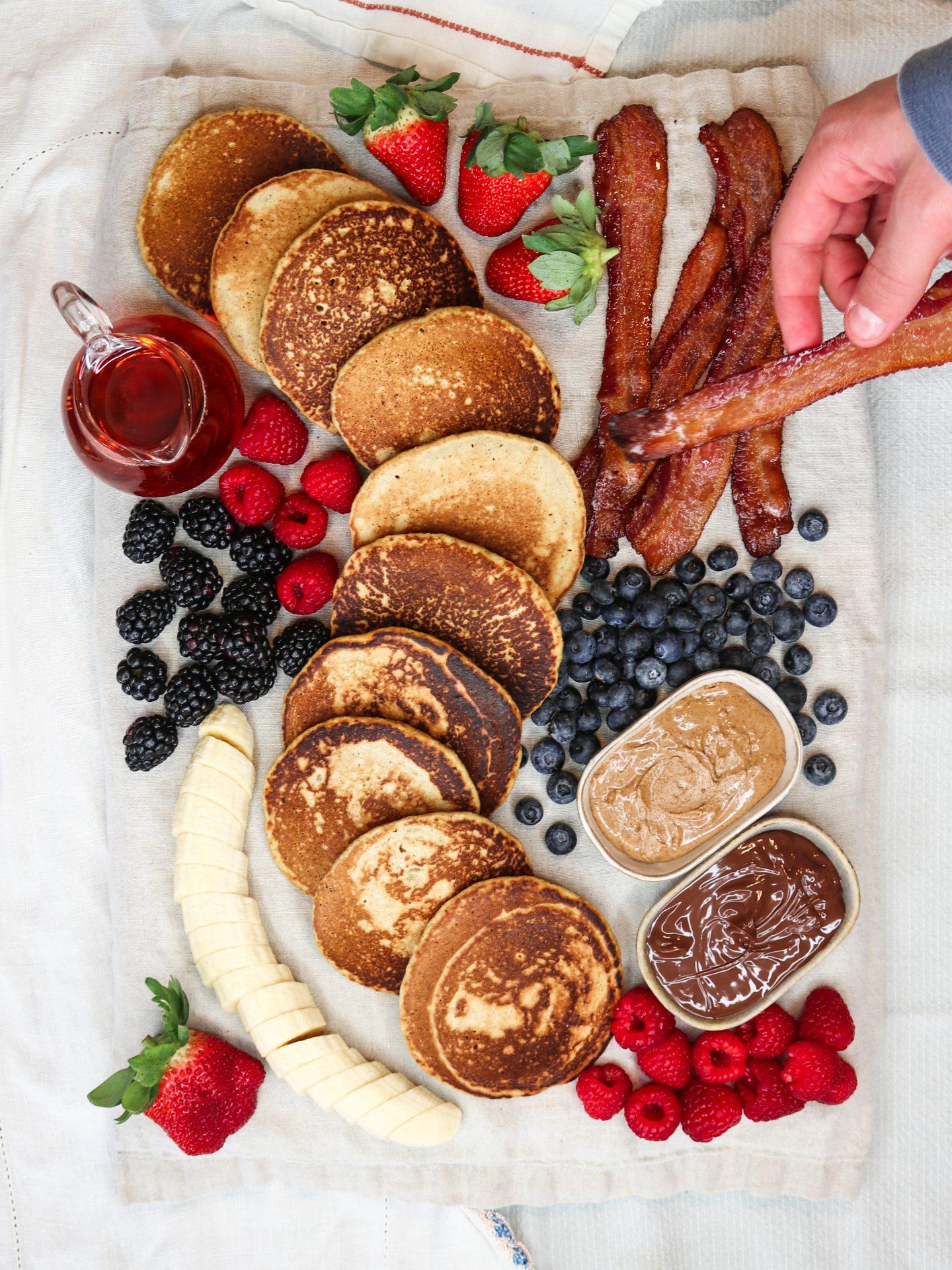 Healthy Pancake Breakfast Board