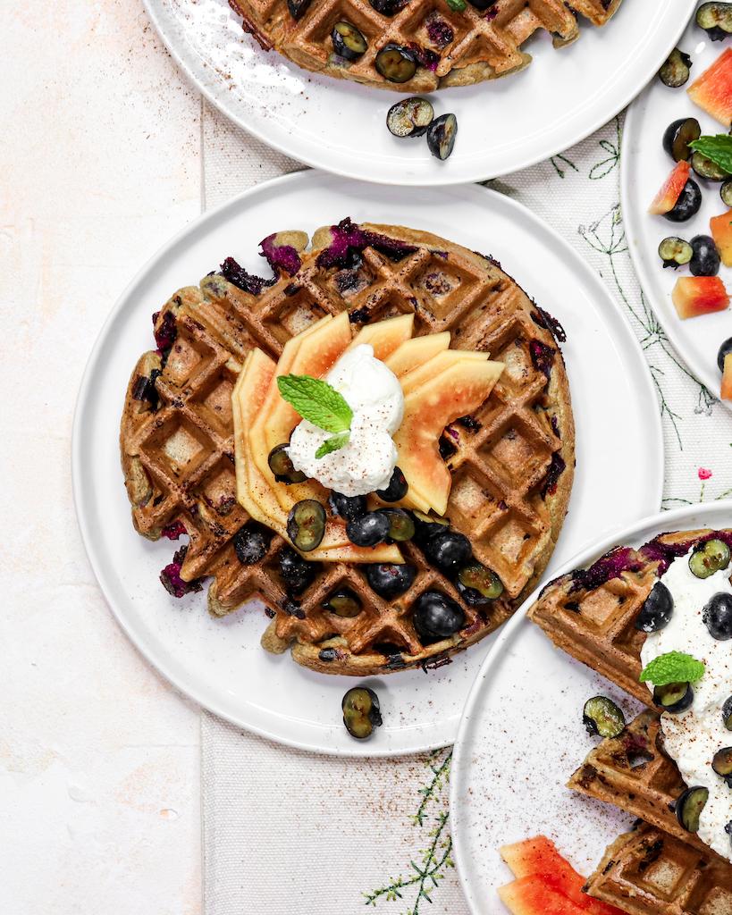 Blueberry Chai Waffles (easy breakfast recipe)