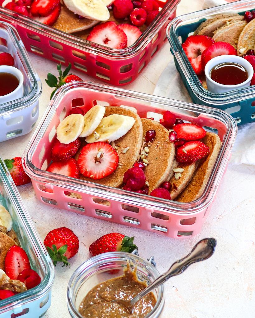 Blender Fluffy Oatmeal Pancakes