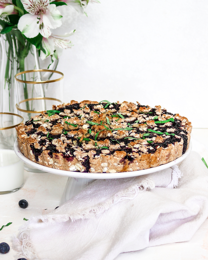 Sugar-free Blueberry Oatmeal Tart (abrightmoment.com)