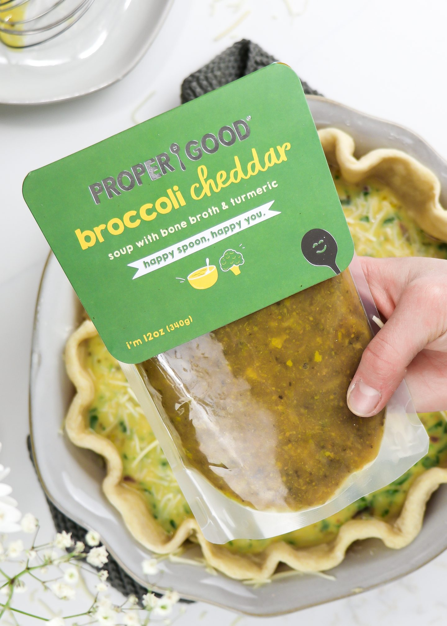 Healthy Broccoli Cheddar & Bacon Quiche