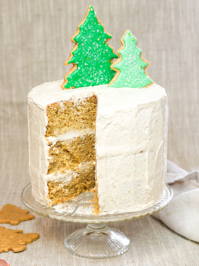 (Healthier) Eggnog Cake with Olive Oil
