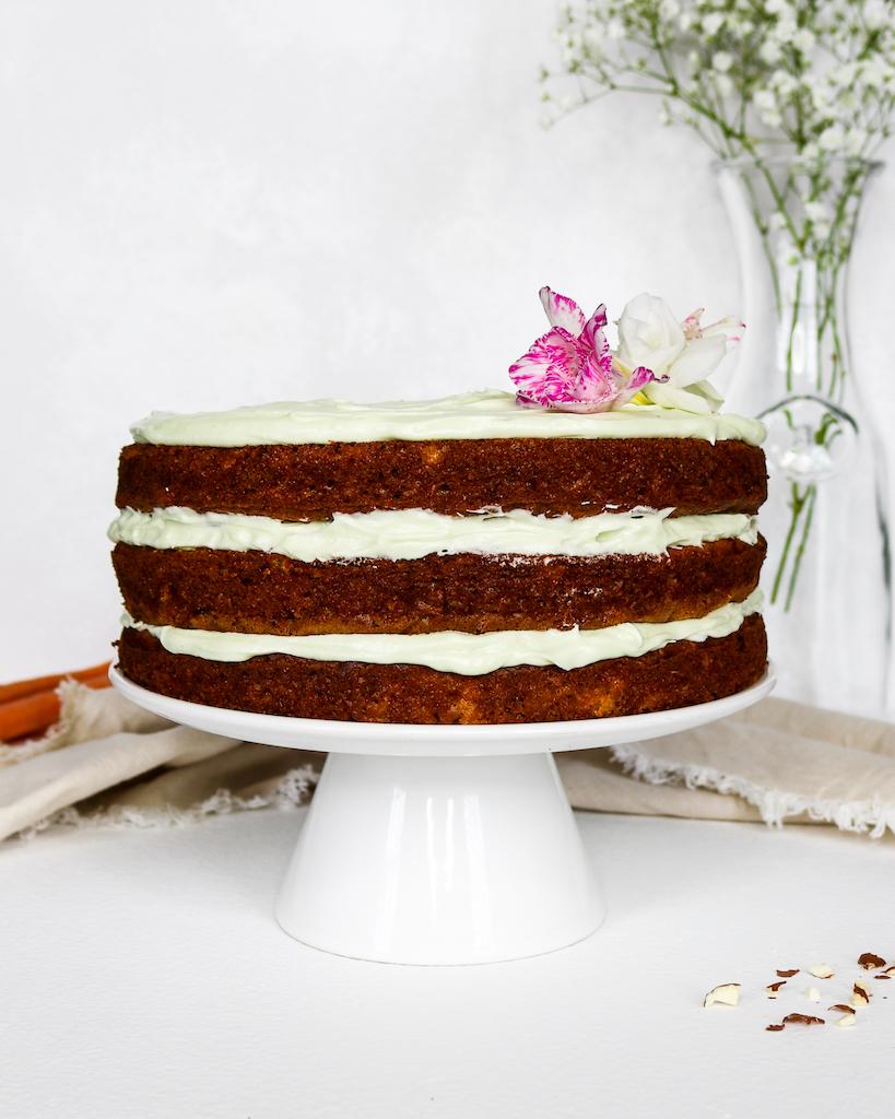 Healthy Olive Oil Carrot Cake (Easter-inspired)